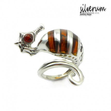 Konik morski oryginalny pierścionek