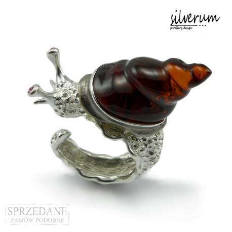 Ślimak oryginalna biżuteria artystyczna