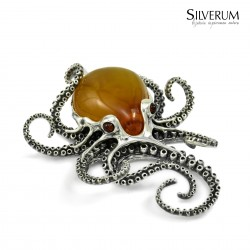 Luksusowa biżuteria z bursztynem naturalnym.